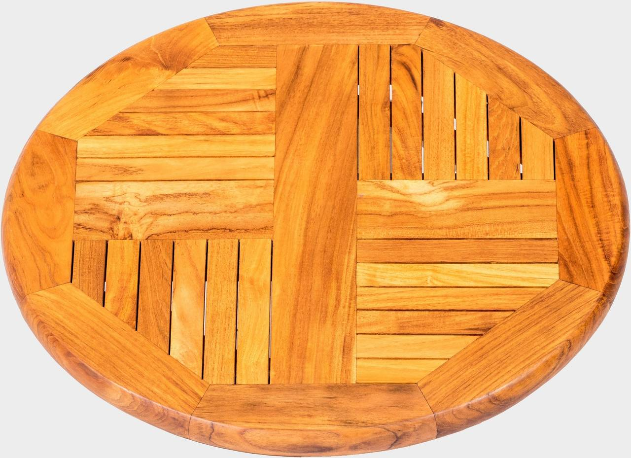 Teakový otočný stolek SERVITORE