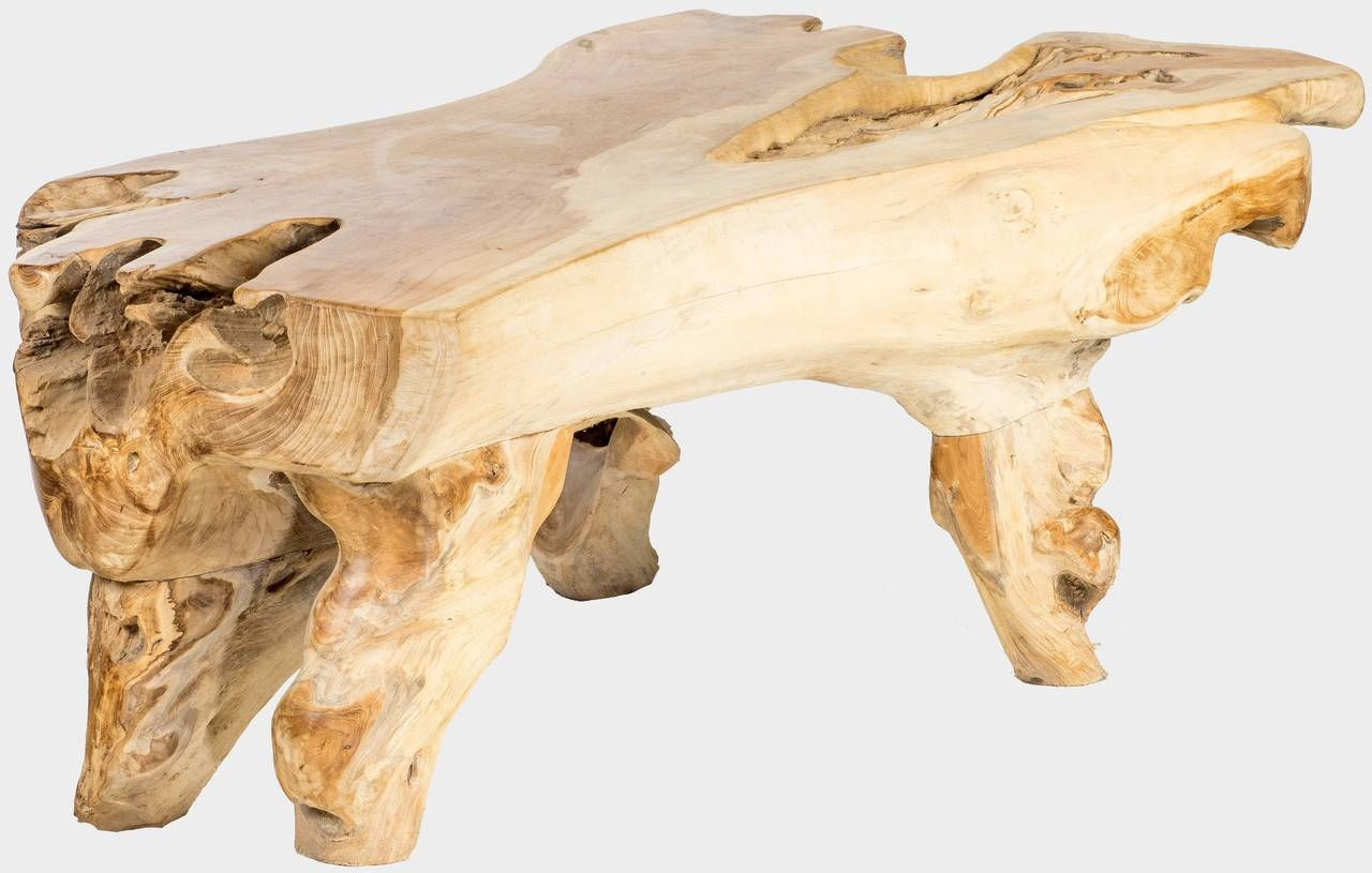 Teakový konferenční stolek z kořene ROOT