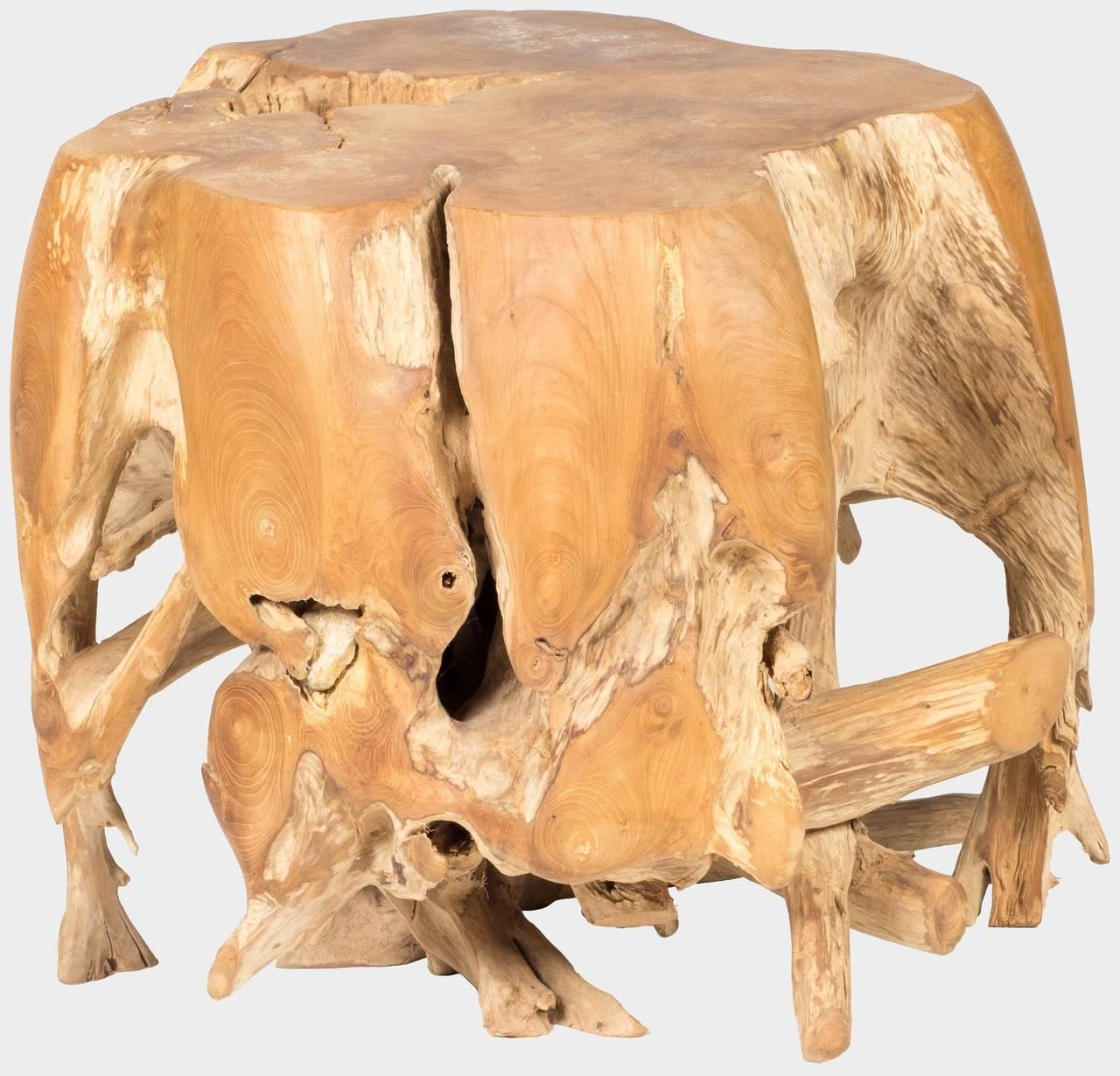 Teakový konferenční stolek z kořene BRANCH