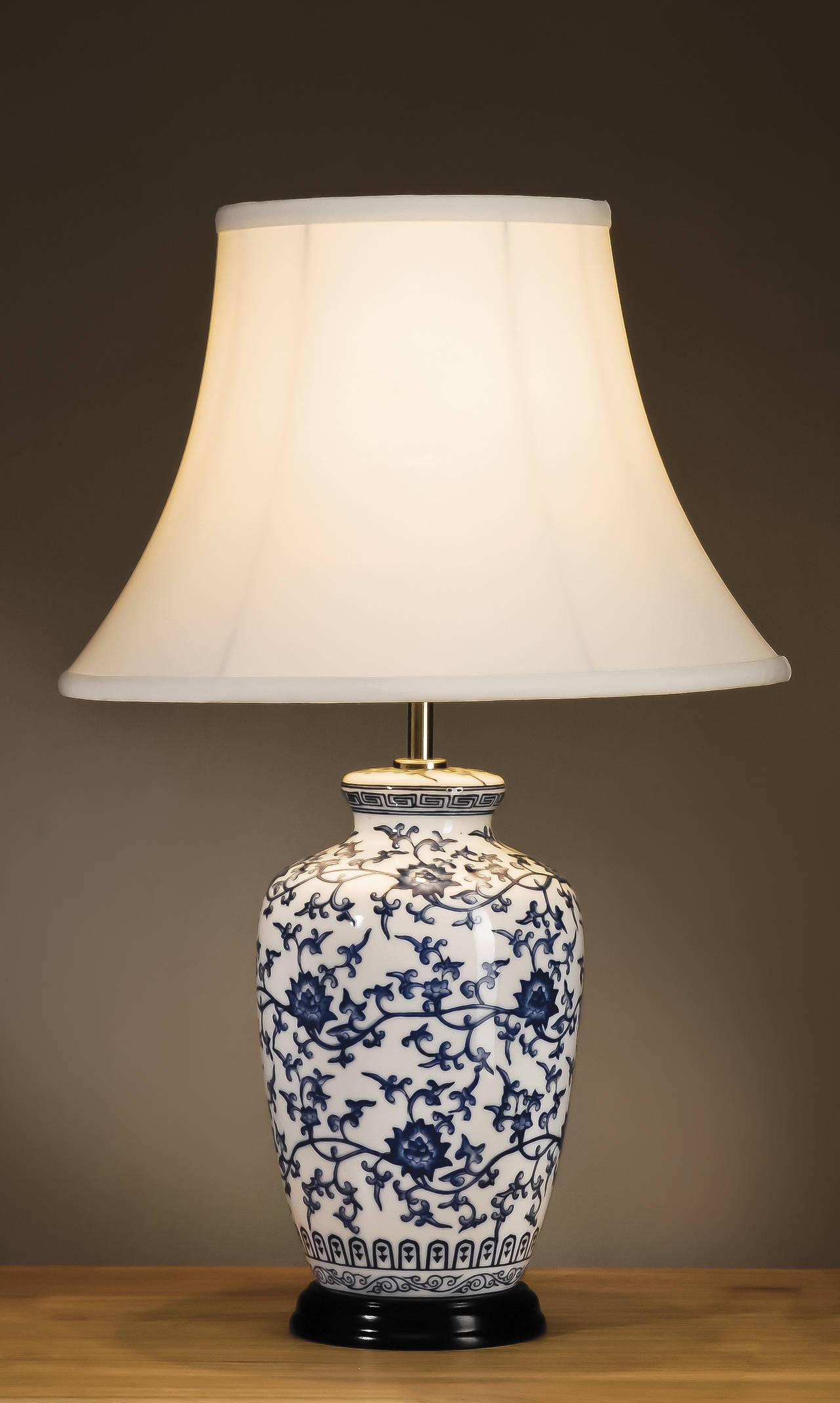 Stolní lampa blue ginger jar