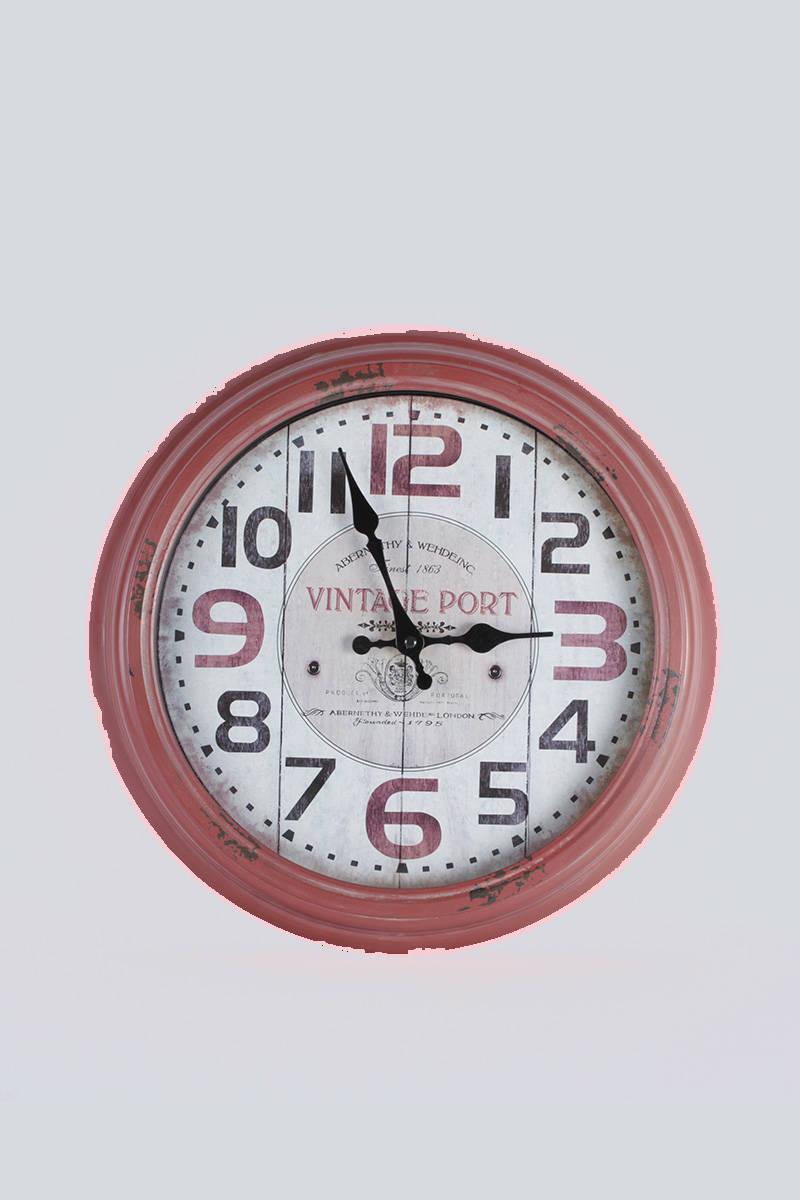 nastenné-hodiny-červené