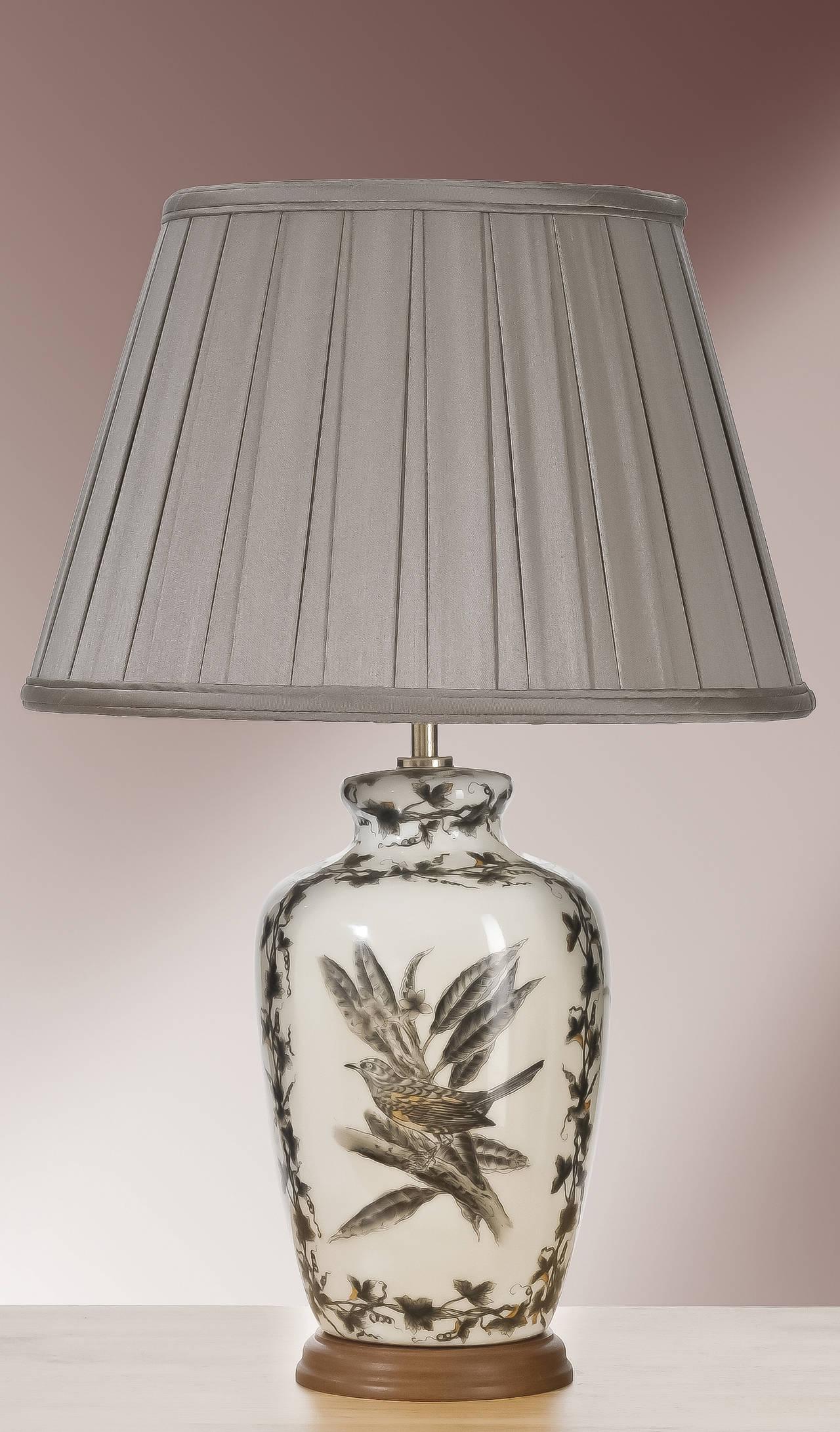 Stolní lampa etched birds