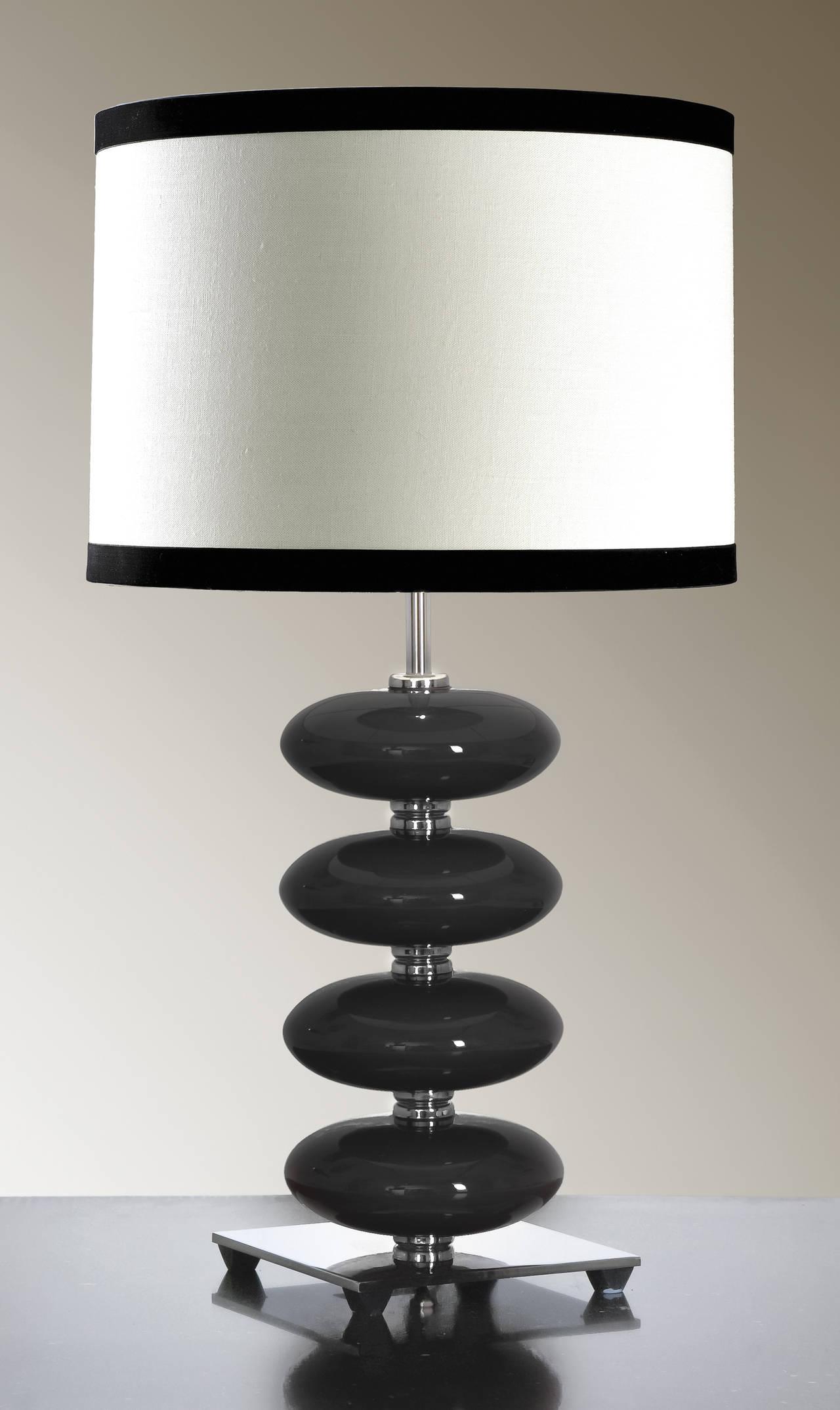 Stolní lampa onyx black