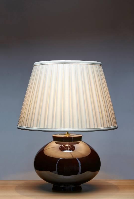 Stolní lampa lustre brown